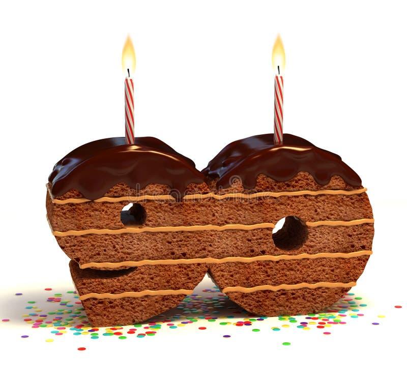 周年纪念第十九个的生日蛋糕 向量例证