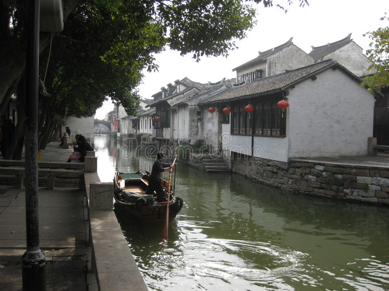 周庄,上海,中国 库存照片