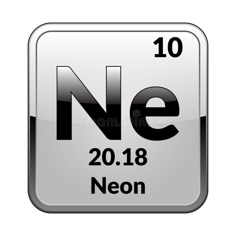 周期表元素氖 向量 向量例证
