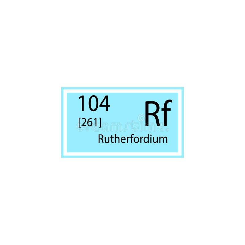 周期表元素第104号元素象 化工标志象的元素 优质质量图形设计象 标志和标志c 向量例证