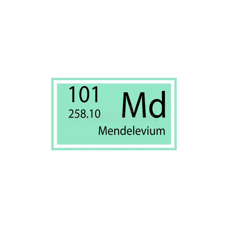 周期表元素钔象 化工标志象的元素 优质质量图形设计象 标志和标志col 向量例证