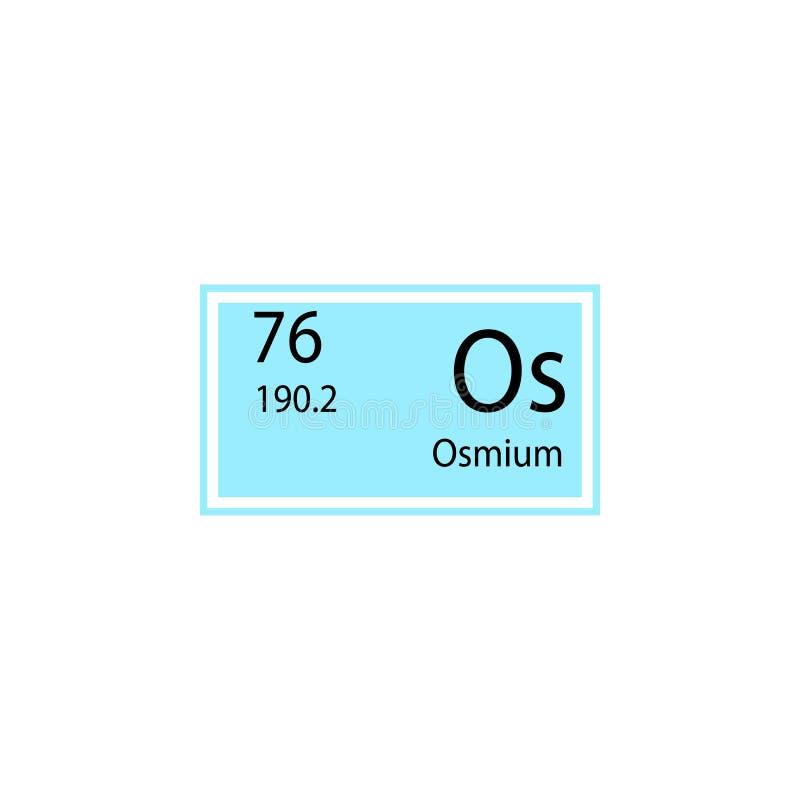 周期表元素锇象 化工标志象的元素 优质质量图形设计象 标志和标志collecti 向量例证