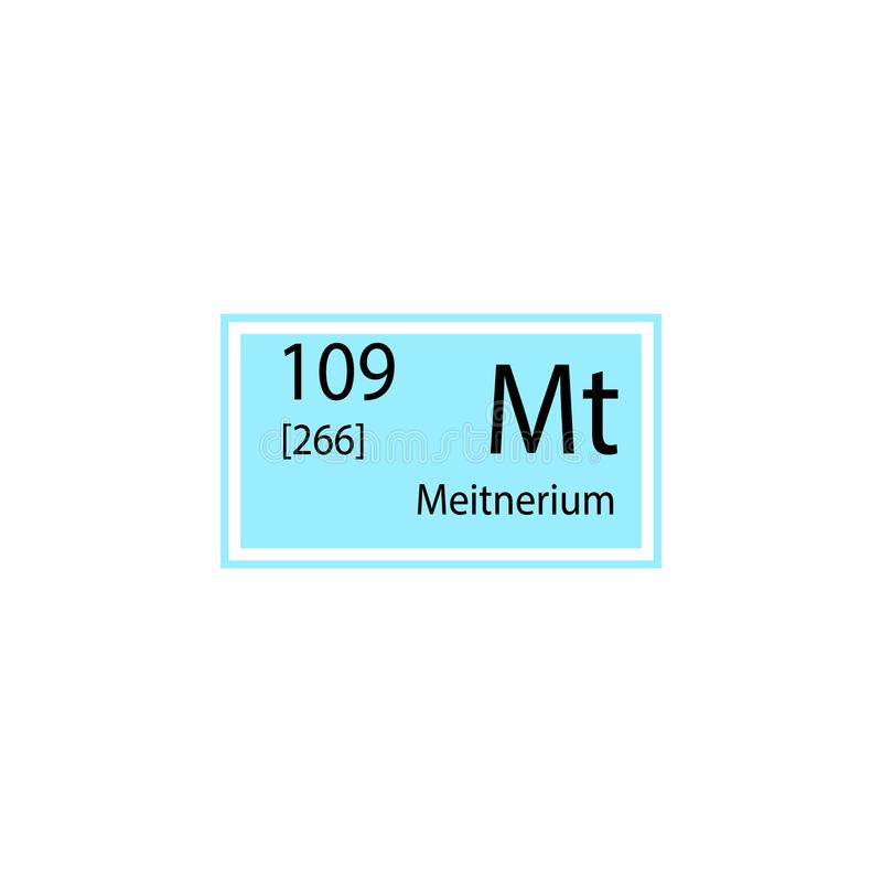 周期表元素meitnerium象 化工标志象的元素 优质质量图形设计象 标志和标志coll 皇族释放例证