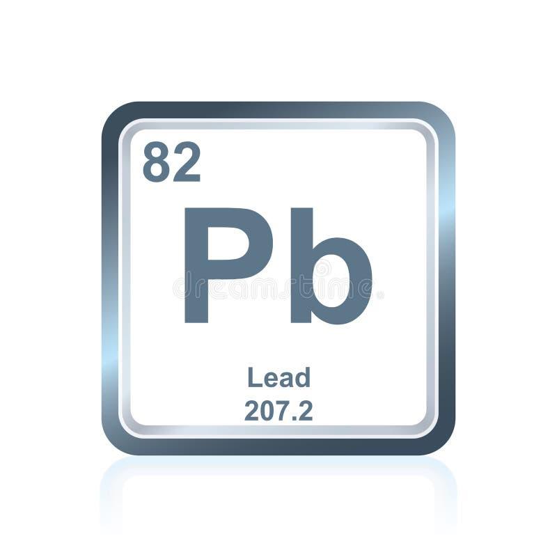 从周期表的化学元素主角 皇族释放例证
