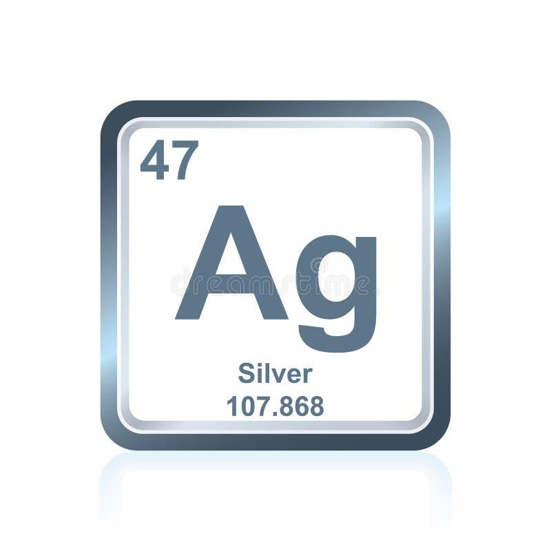 从周期表的化学元素银 库存例证