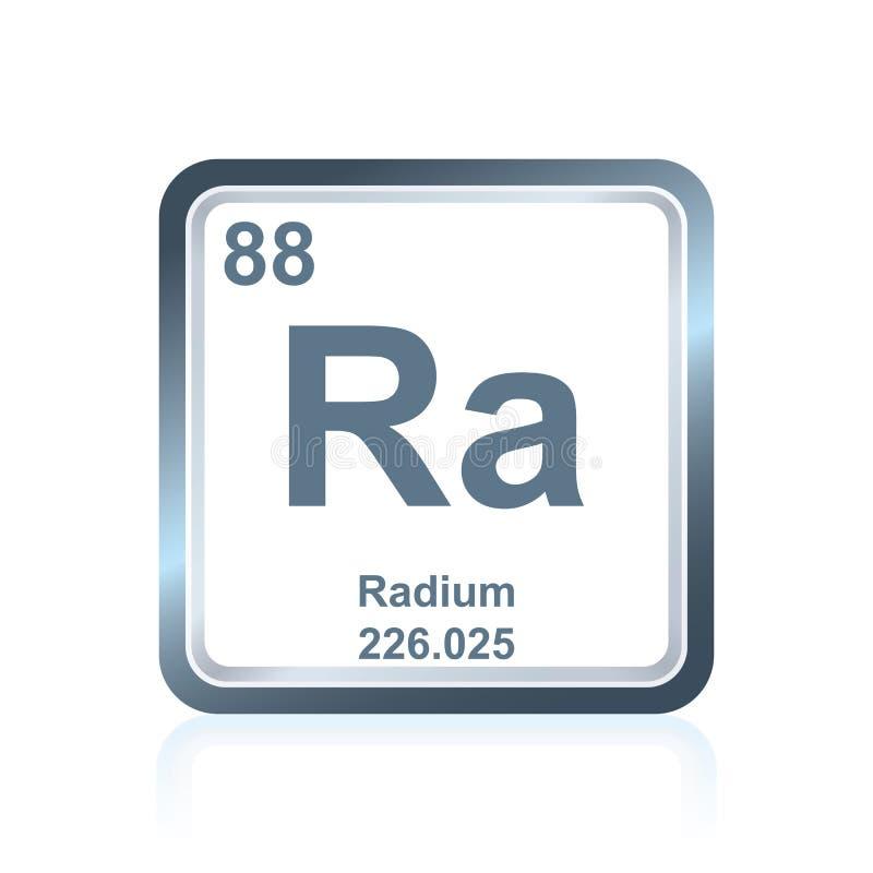从周期表的化学元素镭 向量例证