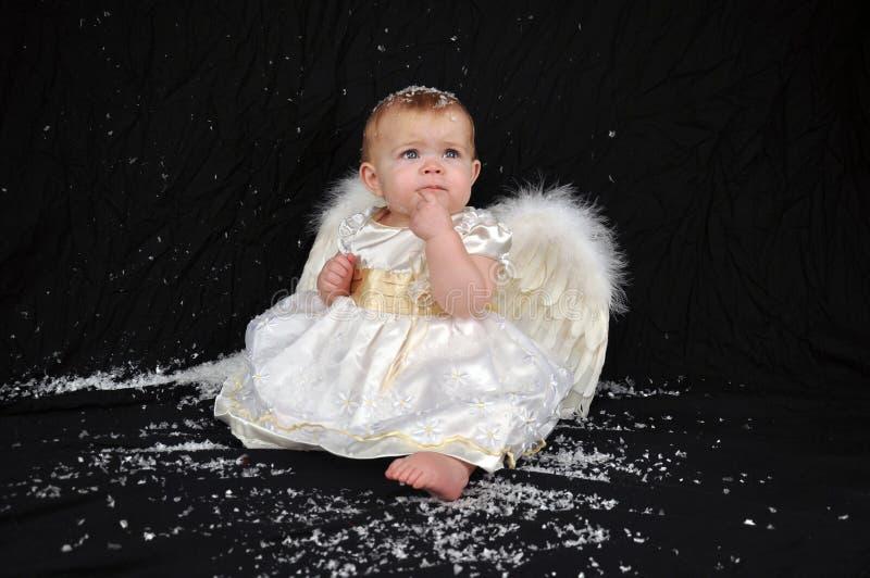 周道天使的雪 库存图片