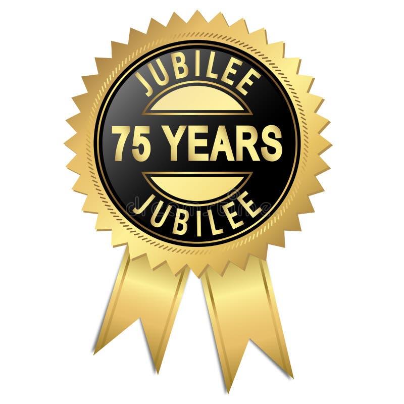 周年纪念- 75年 皇族释放例证