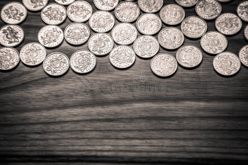 周年老拉脱维亚货币的拉特硬币-单色vi 库存图片