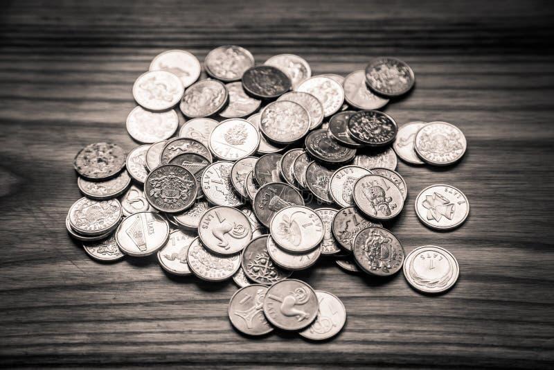 周年老拉脱维亚货币的拉特硬币-单色vi 免版税库存照片
