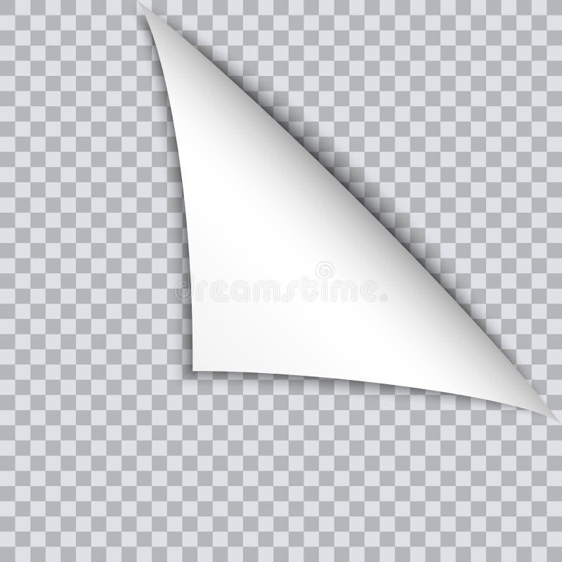 呼叫与阴影的卷毛在空白的纸片 库存例证