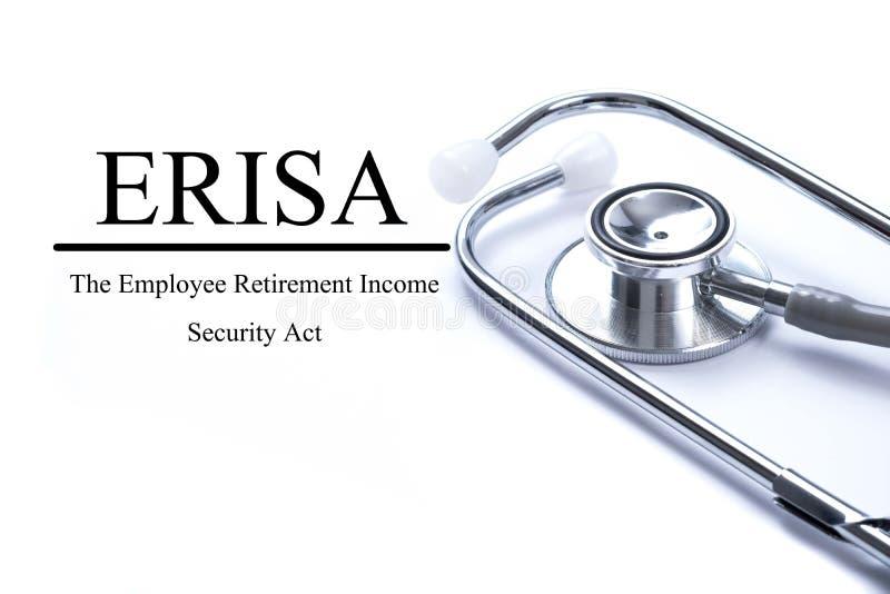 呼叫与ERISA雇员退休收入安全行动  库存图片