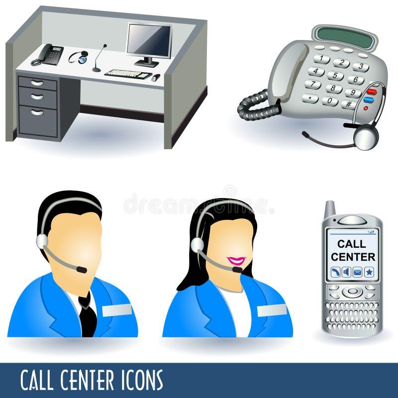 呼叫中心图标 库存例证