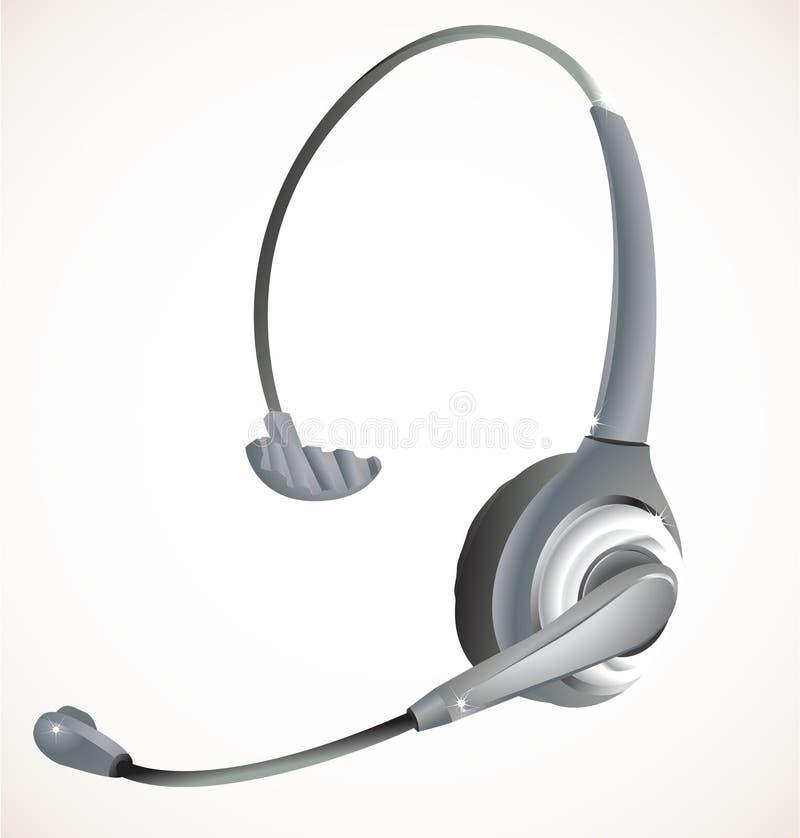 呼叫中心耳机 向量例证