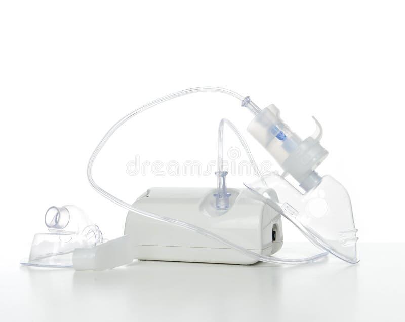 呼吸吸入器哮喘治疗的雾化器 库存照片