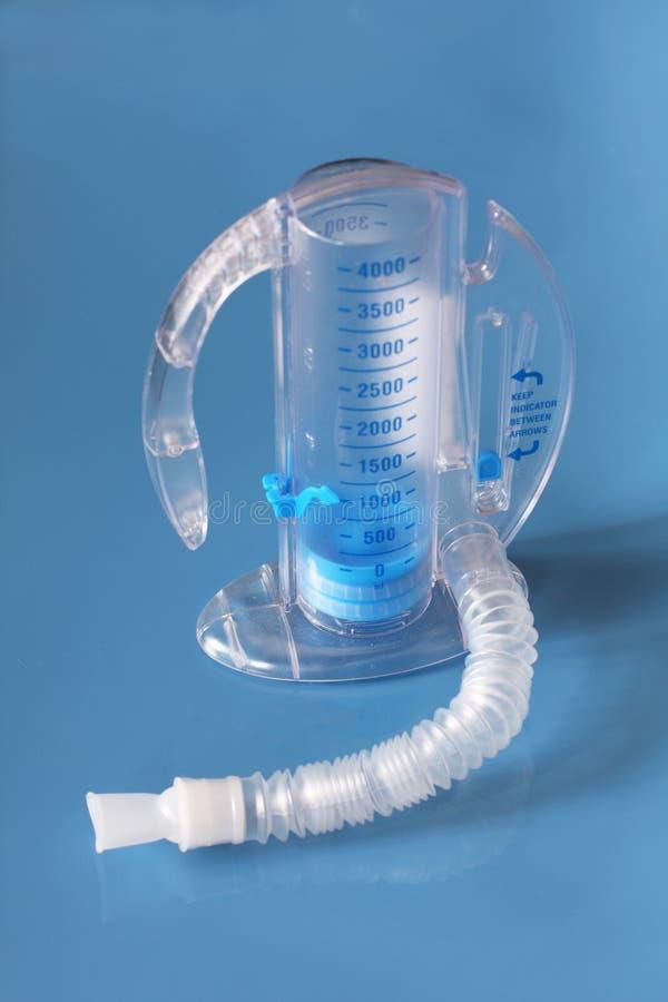 呼吸的刺激性肺量计 库存照片