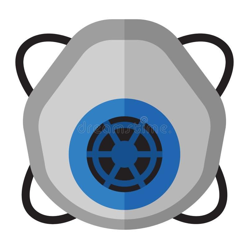 呼吸道防护面具传染媒介例证 库存例证