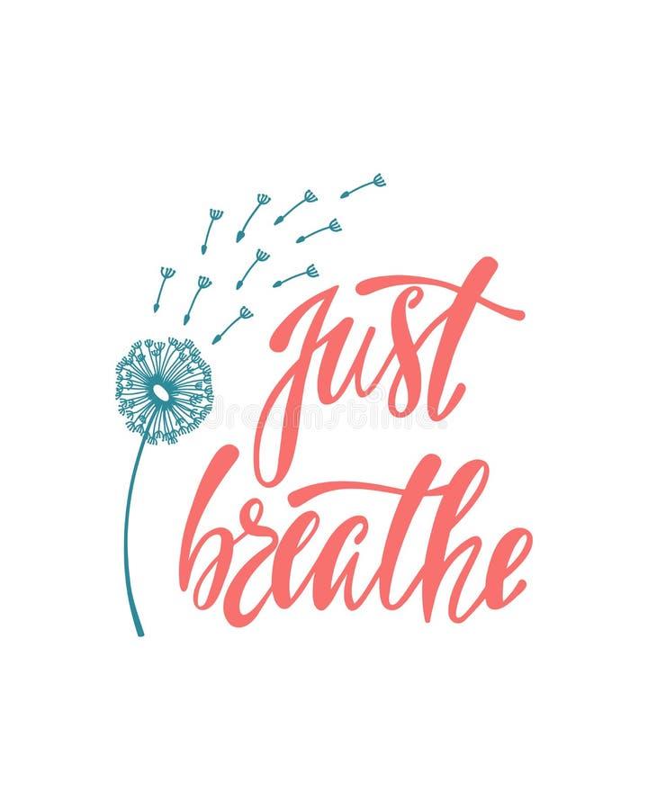 呼吸 关于自由的激动人心的行情 库存例证