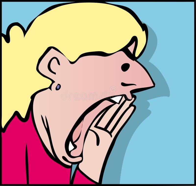 呼喊的妇女 库存例证