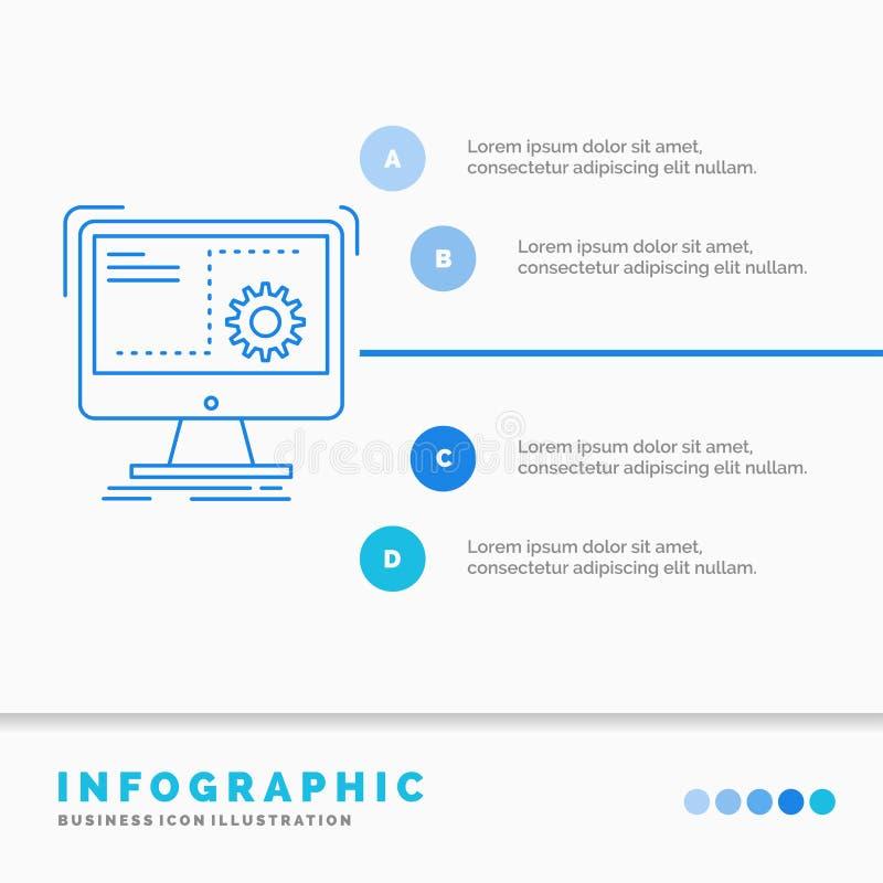 命令、计算机、作用、过程、进展Infographics模板网站的和介绍 r 皇族释放例证