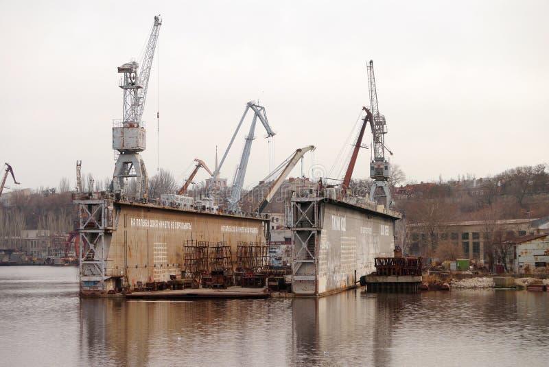 以61命名的造船厂Communards Nikolaev北方造船厂 免版税图库摄影