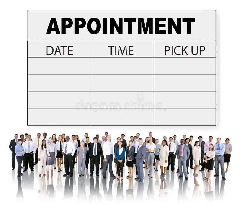 任命日程表备忘录管理组织者紧急概念 向量例证