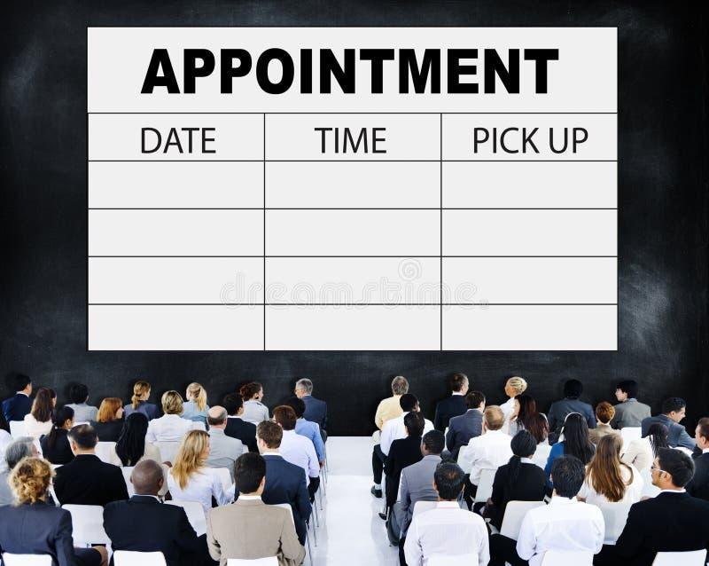 任命日程表备忘录管理组织者紧急概念 免版税库存照片