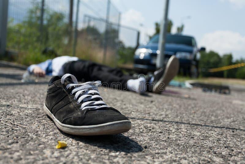 致命的车祸 图库摄影