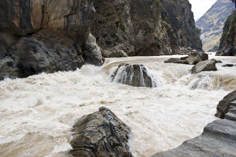 咆哮的河 库存照片