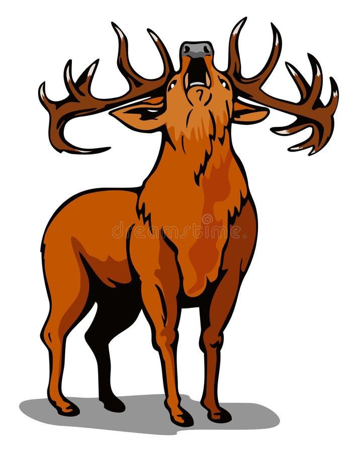 咆哮鹿的红色 皇族释放例证