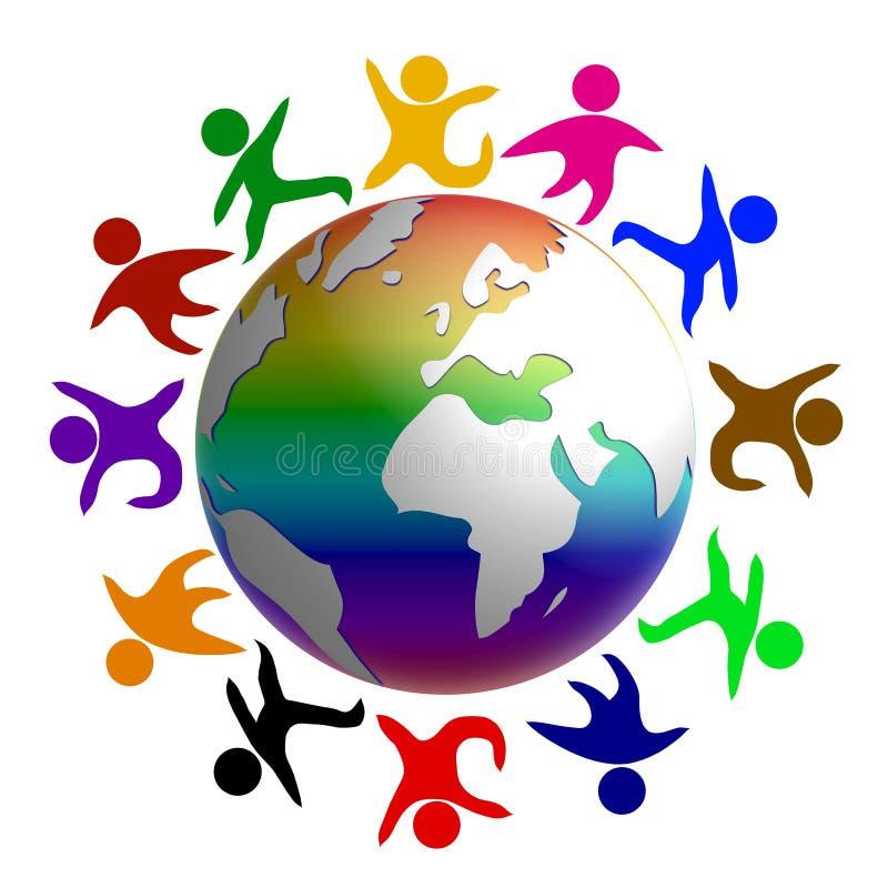 和平世界 向量例证