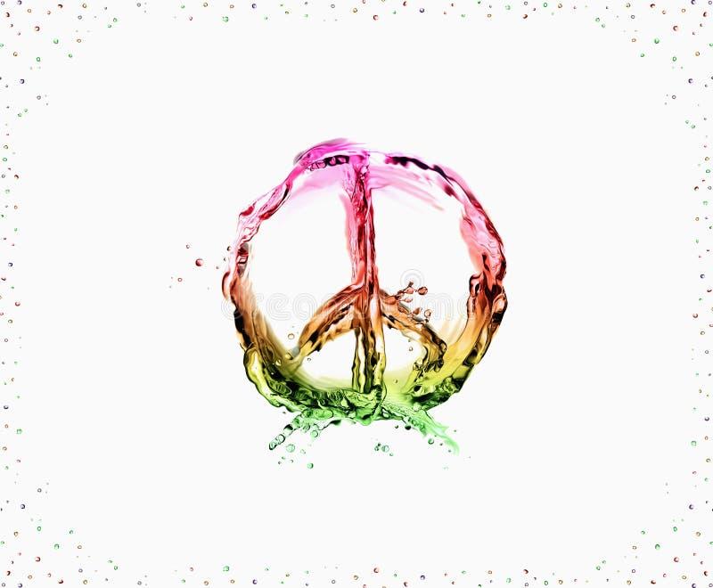 和平和爱 库存照片