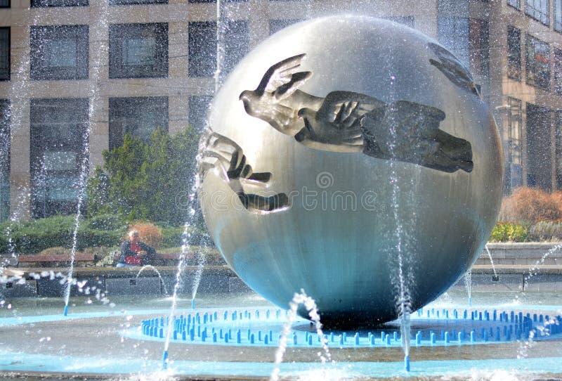 和平喷泉  免版税库存图片