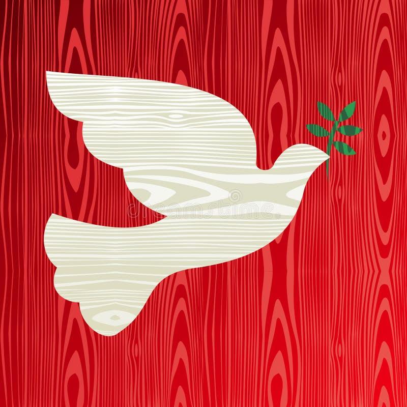 和平圣诞节木鸠  皇族释放例证