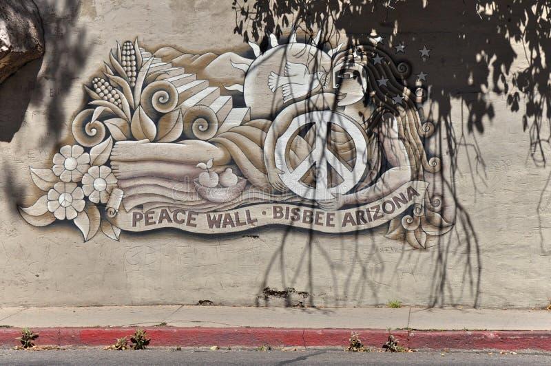 和平墙壁 免版税库存图片