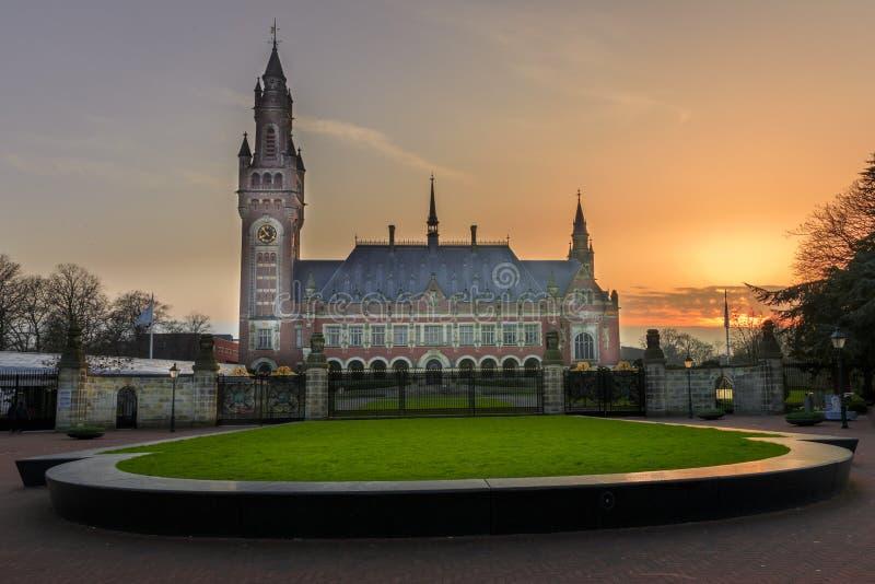 和平宫殿在海牙, 免版税库存照片