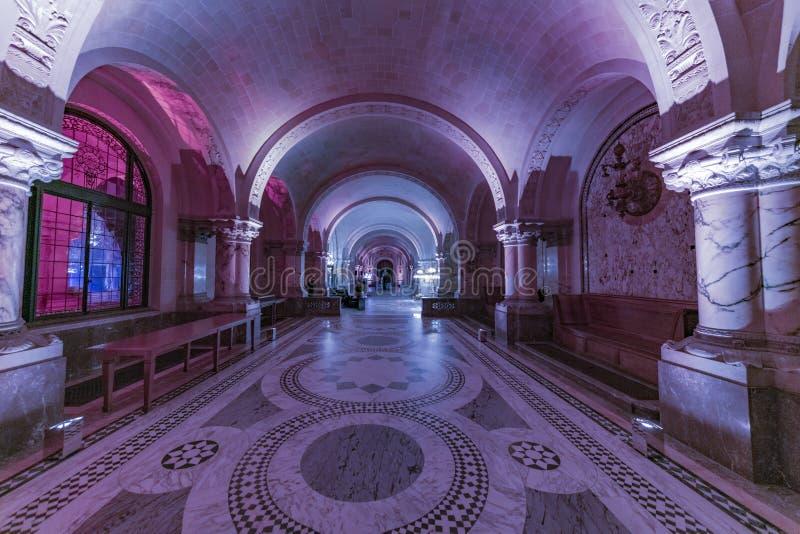 和平宫殿的主要霍尔 免版税库存图片