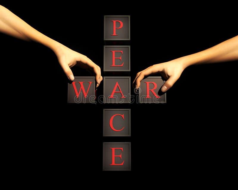 和平战争 库存例证