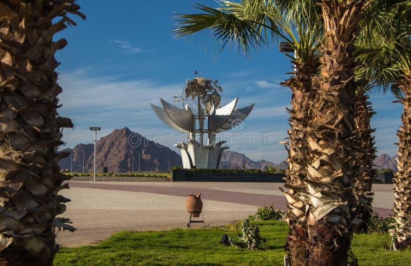 和平方形的纪念碑在吉尼斯世界记录被列出 免版税库存照片