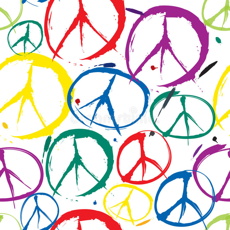 和平无缝的背景的符号 向量例证