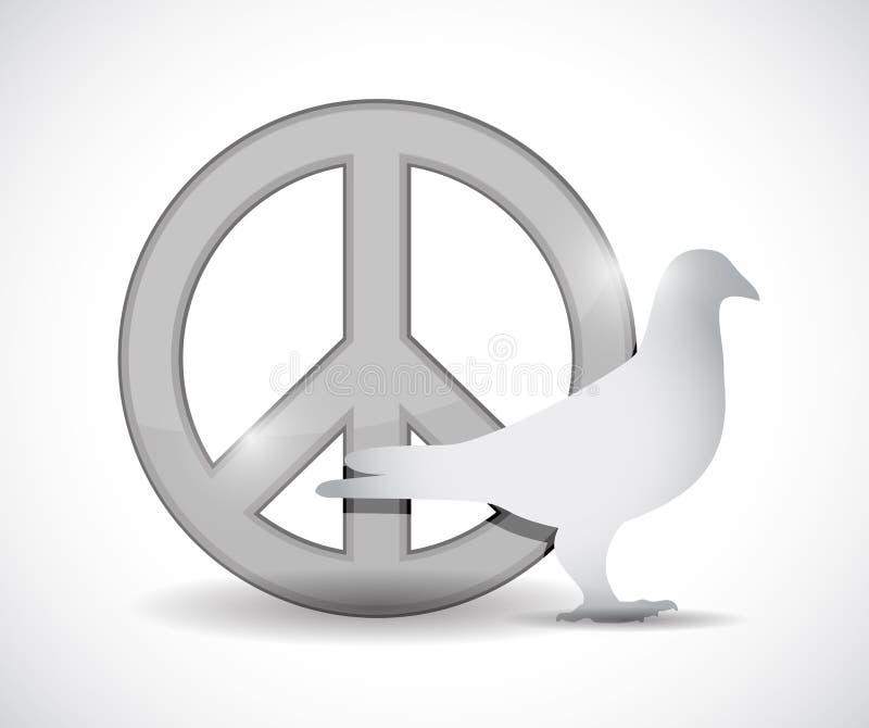 和平标志和鸠例证设计 向量例证