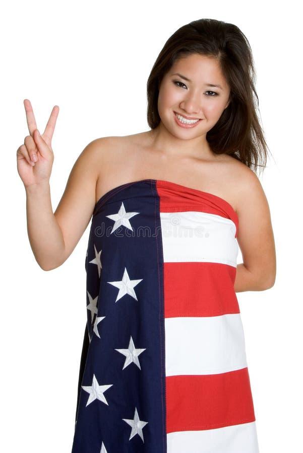 和平标志妇女 免版税库存图片