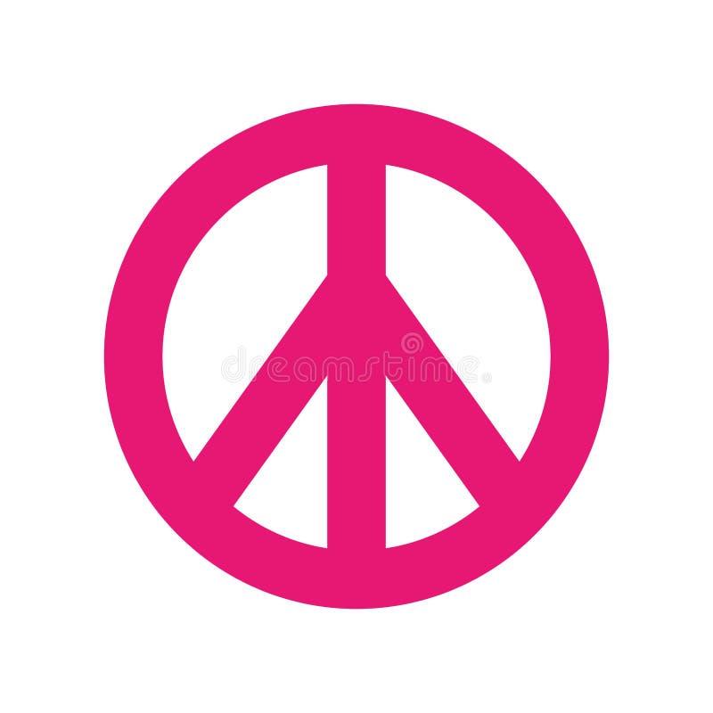 和平标志被隔绝的象 向量例证