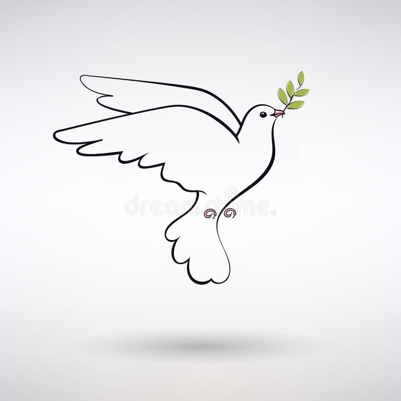 和平标志鸠  库存例证