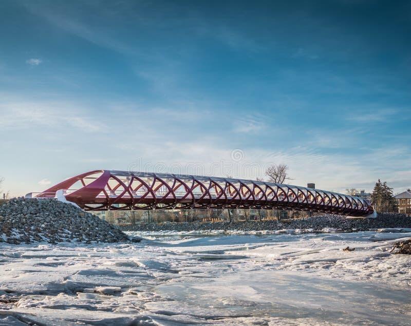 和平桥梁 免版税图库摄影