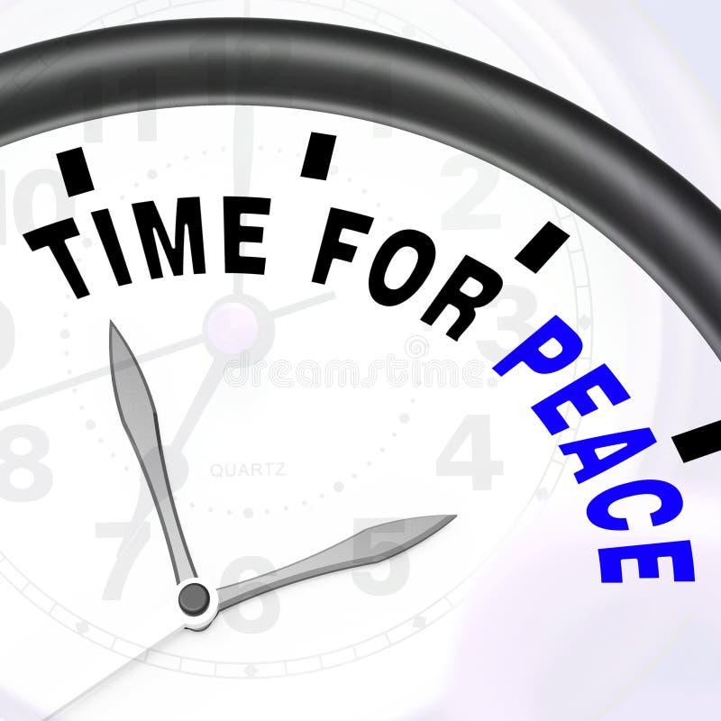 和平消息的时刻显示反战争和平安 库存例证