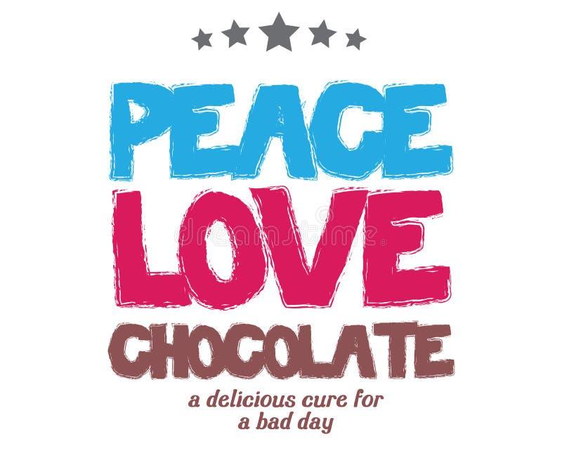 和平爱巧克力可口治疗一坏天 皇族释放例证