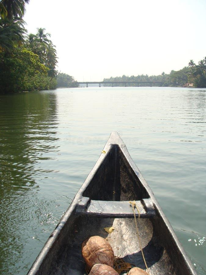 和平的一条镇静河 免版税库存图片