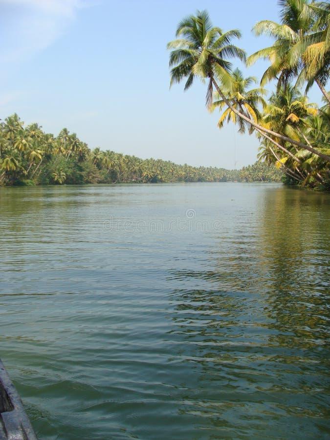 和平的一条镇静河 库存照片