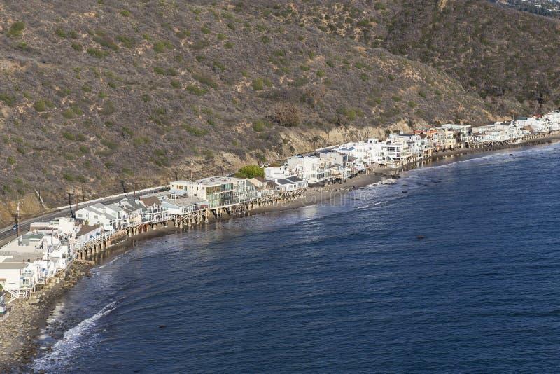 和平的岸回家空中马利布加利福尼亚 库存照片